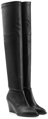Robert Clergerie Over the Knee Leather Boots