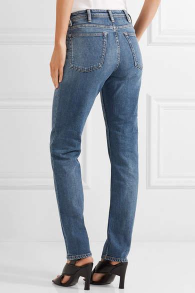 Acne Studios South Mid-rise Straight-leg Jeans - Mid denim