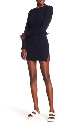 Frame Ribbed Knit Long Sleeve Dress