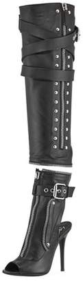 Giuseppe Zanotti Two-Piece Leather Moto Boot
