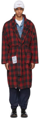 Vetements Red Light Flannel Robe