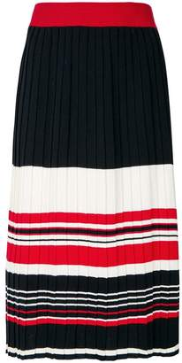 Parker Chinti & striped pleated skirt