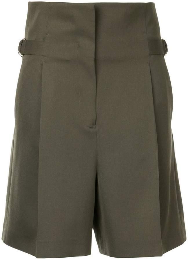 belted waist shorts