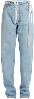 OFF-WHITE X Levi's boyfriend jeans $341 thestylecure.com