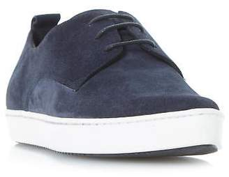 Dune Black Ladies FRENCHE Pointed Lace Up Trainer in Navy