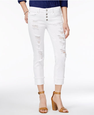 Dollhouse Juniors' Ripped Cropped Skinny Jeans $49 thestylecure.com