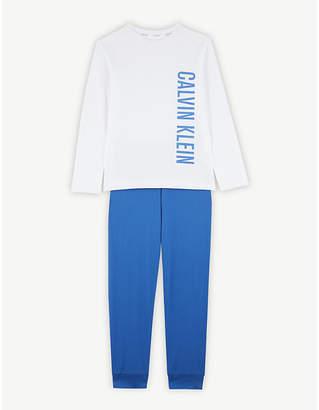 Calvin Klein Logo cotton pyjamas 8-16 years