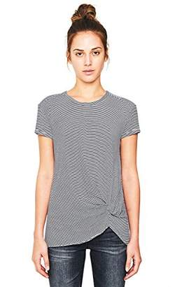 Stateside Women's Supima Slub Skinny Stripe Twist Tee