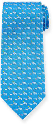 Salvatore Ferragamo Elephants & Mice Silk Tie