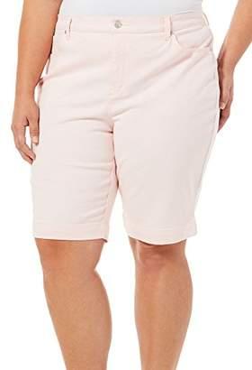 Gloria Vanderbilt Women's Plus Size Amanda Bermuda Denim Short