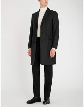 Sandro Apollo single-breasted wool-blend overcoat
