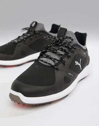 Puma Ignite power adapt spiked sneakers in black