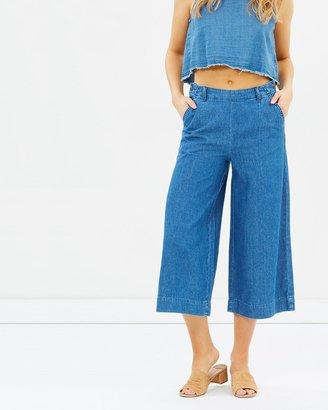 Alley Denim Culotte Pants