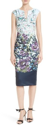 Women's Ted Baker London Tiha Floral Print Sheath Dress $295 thestylecure.com