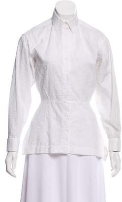 Alaia Embroidered Button-Up Top w/ Tags