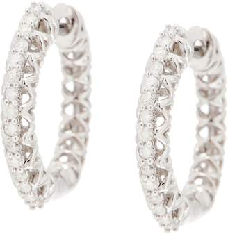Affinity Diamond Jewelry White Diamond Huggie Hoops, 1/5 cttw, Sterling, by Affinity