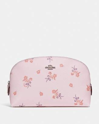 Coach Cosmetic Case 22 With Floral Bow Print