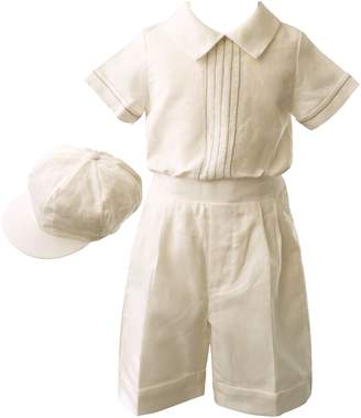 Heritage Boys Linen Shorts Set With Cap