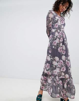 Ghost long sleeve printed maxi dress