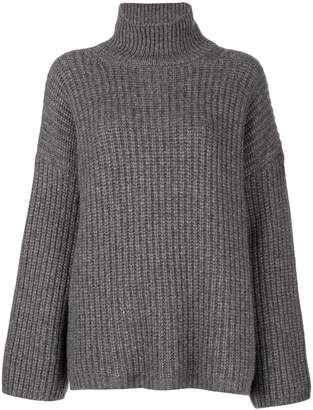 Incentive! Cashmere turtleneck chunky jumper