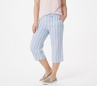 Denim & Co. Linen Blend Pull-On Capri Pants