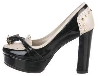 91d1e3533792 Gucci Patent Leather Platform Loafer Pumps