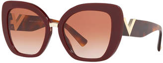 Valentino V-Temple Acetate Butterfly Sunglasses