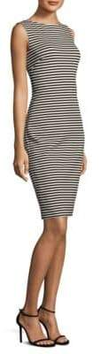 Max Mara Striped Sleeveless Sheath Dress