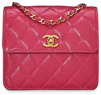 aaa0f80a0bd8 ... What Goes Around Comes Around · Chanel Pink Quilted Caviar Crossbody Bag