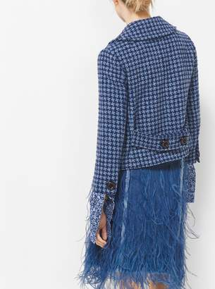 Michael Kors Houndstooth Tweed Jacket