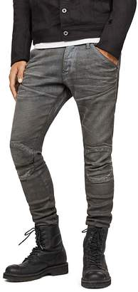 G Star 5620 3D Knee Zip Super Slim in Loomer Gray