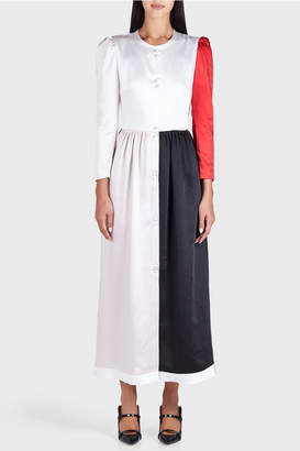 Rejina Pyo Quinn Satin Tricolor Dress