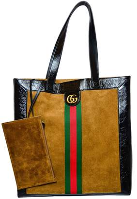 Gucci Web E Logo Marmont Shopper Bag