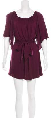 Alice + Olivia Tie-Front Mini Dress