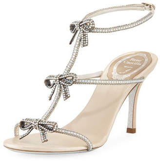 Rene Caovilla Bow Embellished 80mm Sandal