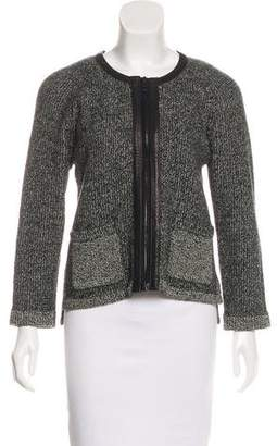 Rag & Bone Knit Leather-Trimmed Jacket