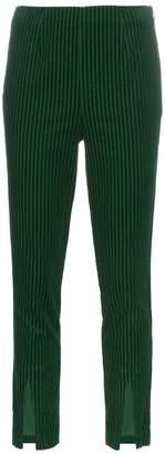 Frame split hem mid-rise corduroy trousers