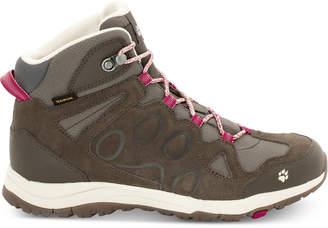 Jack Wolfskin Women's Rocksand Texapore Mid Waterproof Hiking Boots, Dark Ruby from Eastern Mountain Sports