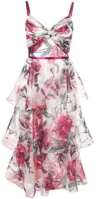Marchesa sleeveless printed dress