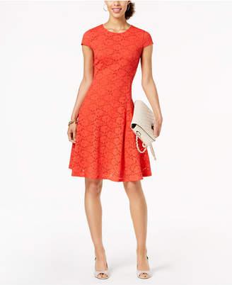 Alfani Petite Lace Fit & Flare Dress, Created for Macy's