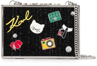 Karl Lagerfeld Paris pins pop minaudiere clutch