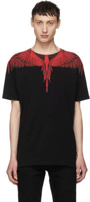 Marcelo Burlon County of Milan Black and Red Wing T-Shirt