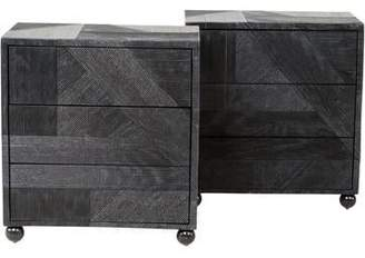 Pair of Custom Lacquered Cabinets