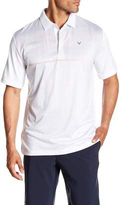 Callaway GOLF Geo Print Short Sleeve Polo