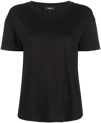 Theory plain panelled T-shirt