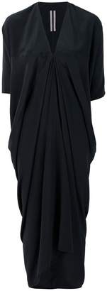 Rick Owens draped V-neck dress