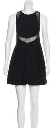 Stella McCartney Mesh-Trimmed Mini Dress Black Mesh-Trimmed Mini Dress