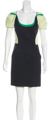 Zac Posen Paneled Mini Dress