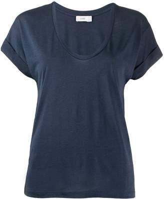 Closed plain U-neck T-shirt