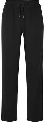 Kenzo Striped Crepe Track Pants - Black